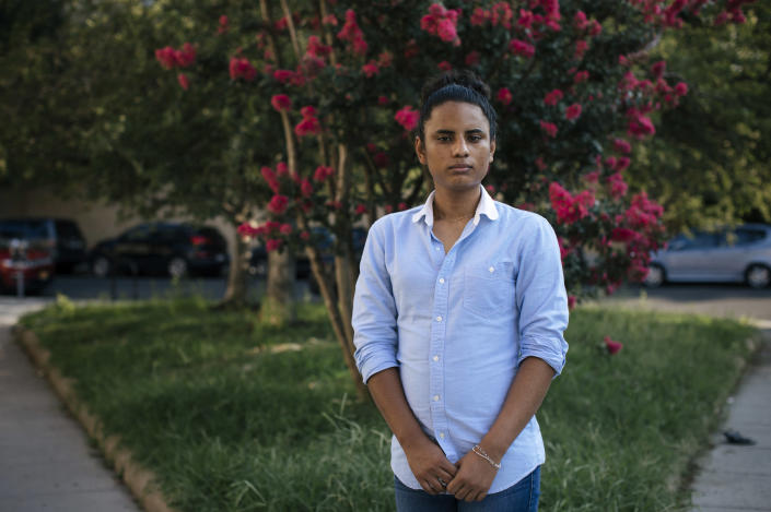 Image: Marivian Muñoz left Honduras in December 2017 and traveled overland to the Mexico-U.S. border in a journey that took 55 days. (Alyssa Schukar / for NBC News)