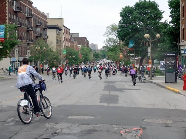 The cycling event will use staggered start times for participants to respect public health guidelines.  (Isaac Olson/CBC - image credit)