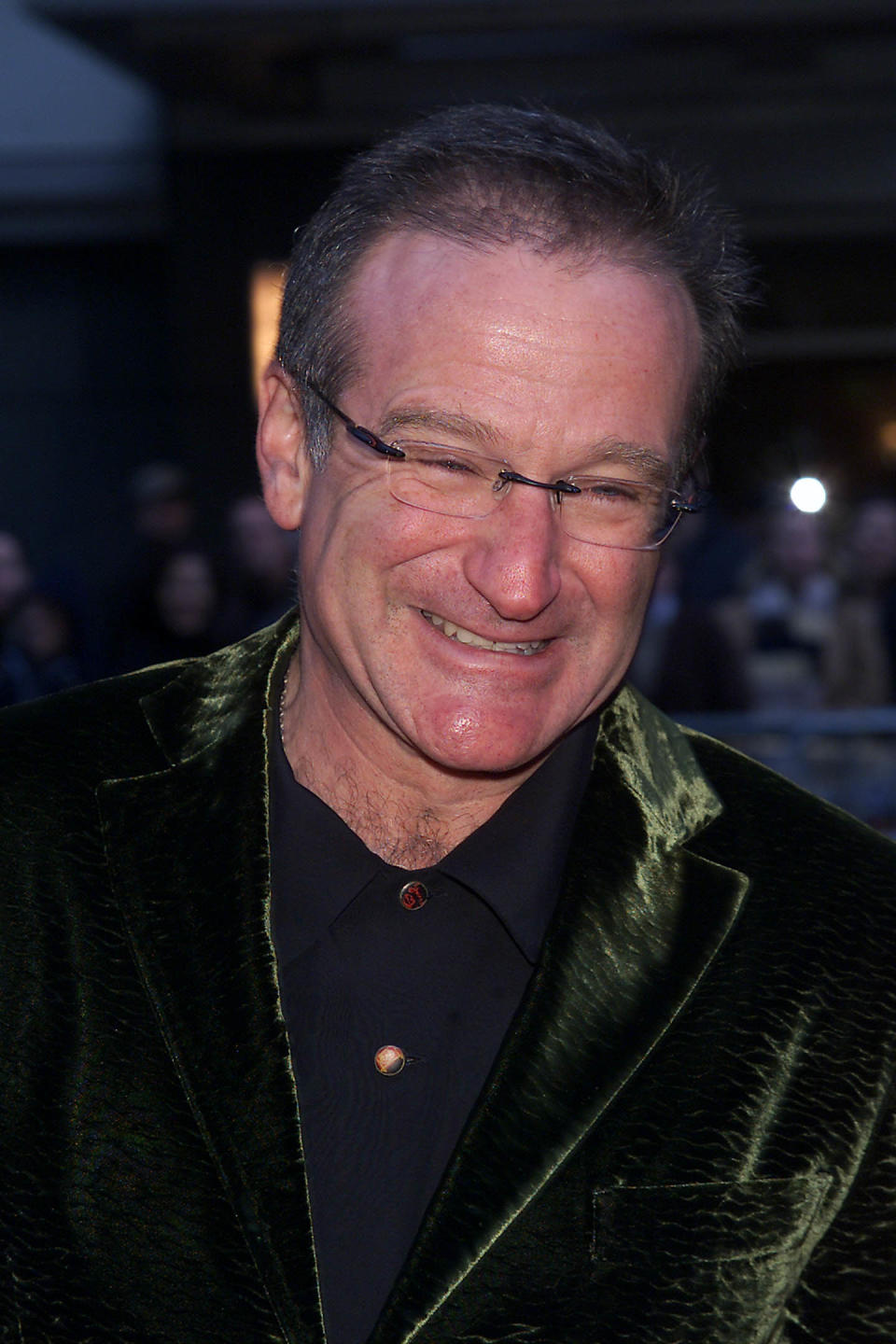 "Actor Robin Williams at the N.Y. Premiere of ""Harry Potter and the Sorcerer's Stone"" at the Ziegfeld Theatre in New York City. 11/11/2001. Photo: Evan Agostini/ImageDirect"