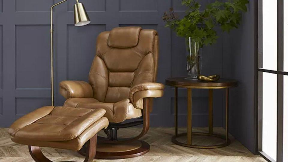 This leather chair is more than 30% off right now.