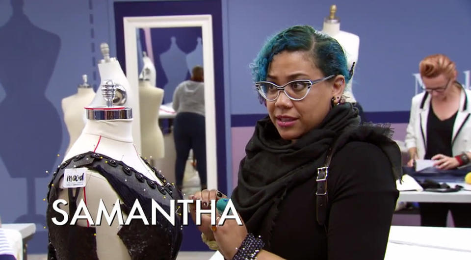 """Designer Samantha Rei who coined the term """"business cleavage. (Photo: Lifetime)"""