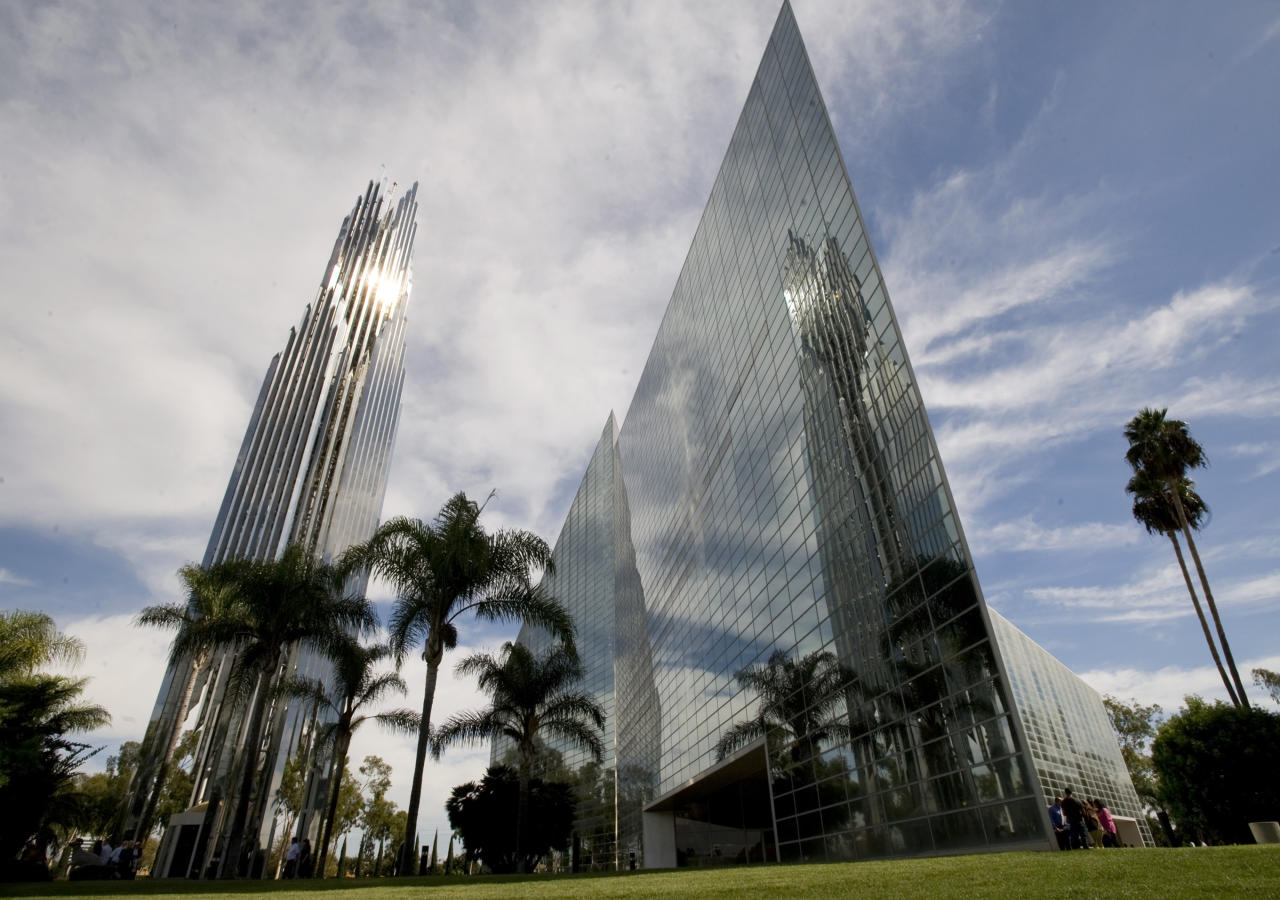 FILE - This Oct. 24, 2010 file photo shows the sun reflecting off the Crystal Cathedral in Garden Grove, Calif.The bidding war has intensified for the site of Orange County's famed Crystal Cathedral Ministries, which filed for Chapter 11 bankruptcy protection last year. (AP Photo/Orange County Register, Ana Venegas, File) MAGS OUT; LOS ANGELES TIMES OUT