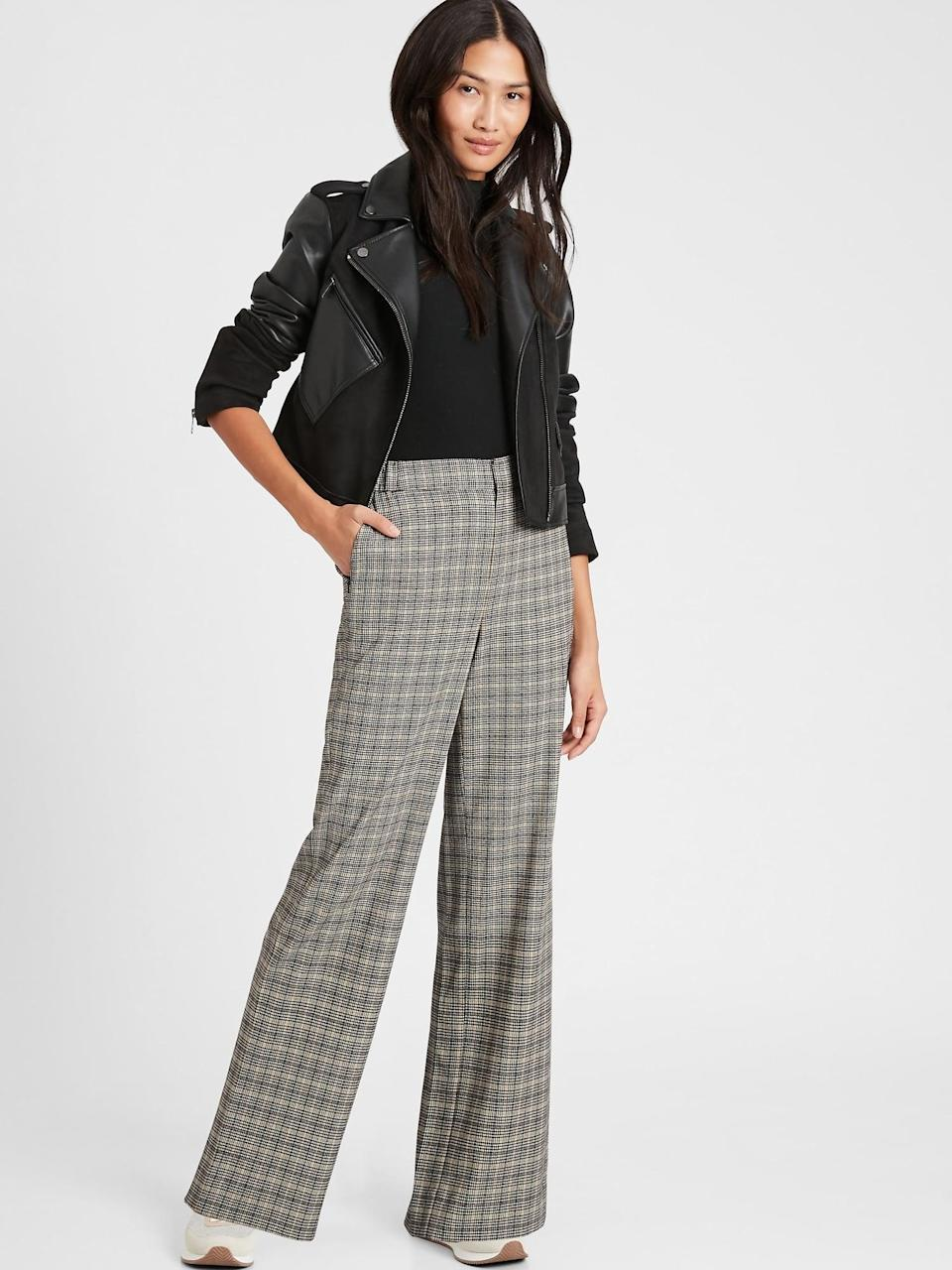 <p>We love the menswear inspired look of this <span>Banana Republic High-Rise Wide-Leg Pant</span> ($110).</p>