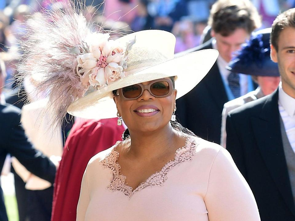 Oprah Winfrey at Prince Harry and Meghan Markle's wedding in 2018AFP via Getty Images