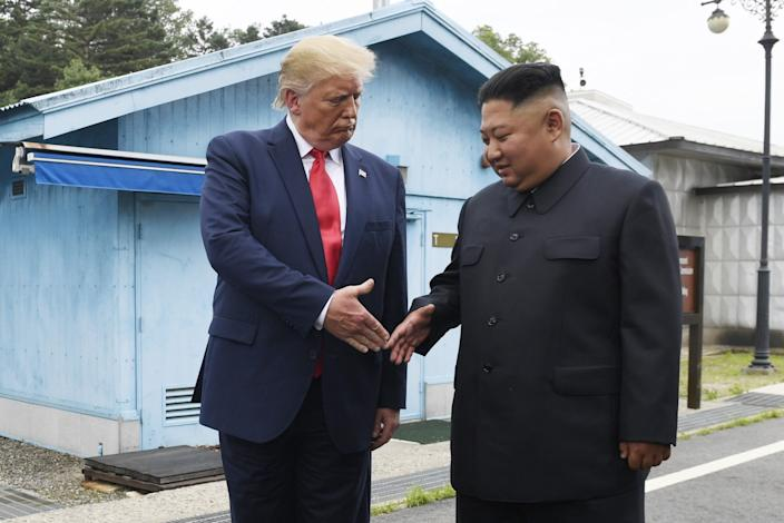 "In ""Rage,"" Bob Woodward reports that President Trump drank two Diet Cokes before his historic meeting with Kim Jong Un at Panmunjom. <span class=""copyright"">(Susan Walsh / Associated Press)</span>"