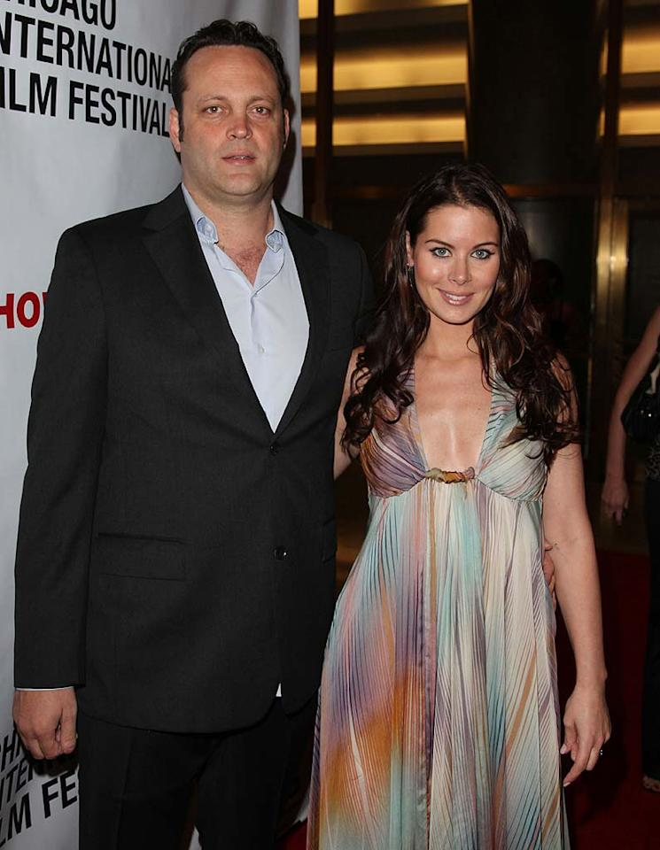 """Wedding Crashers"" star Vince Vaughn kicked off the year in celebrity weddings by secretly walking down the aisle with his lady love, Canadian real estate agent Kyla Weber, on January 2. The 40-year-old admitted to <i>People</i> the previous fall he was ready for his life ""to be about other people and things."" Tasos Katopodis/<a href=""http://www.gettyimages.com/"" target=""new"">GettyImages.com</a> - June 12, 2010"