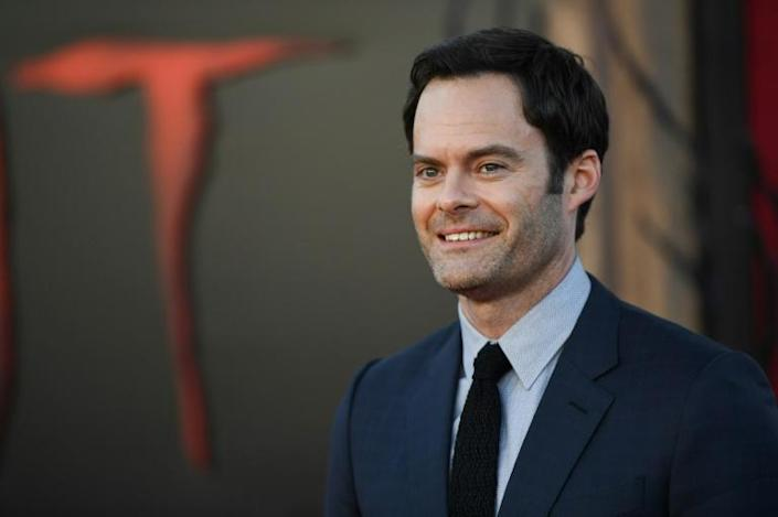 """Bill Hader, who plays Richie Tozier, arrives for the World premiere of """"It Chapter Two"""" at the Regency Village theatre in Westwood, California (AFP Photo/Robyn Beck)"""
