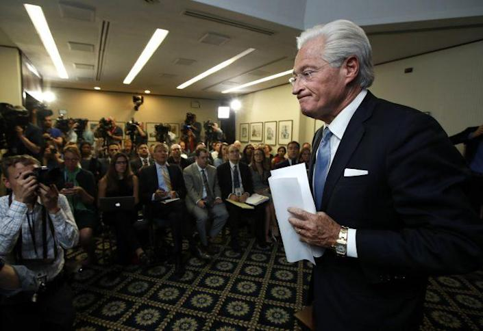 Marc Kasowitz, personal attorney of President Trump, leaves the National Press Club after delivering a statement following the congressional testimony of former FBI Director James Comey, June 8, 2017. (Photo: Manuel Balce Ceneta/AP)