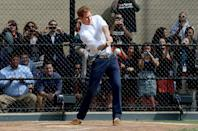 <p>On second thought, maybe Harry does secretly hope to become a baseball star ... in May 2013, he participated in a baseball clinic during the launch of a new partnership between the Royal Foundation of the Duke and Duchess of Cambridge and Harlem RBI, a local community organization in the Harlem neighborhood of N.Y.C. </p>