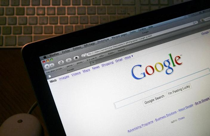 This picture taken on January 27, 2010 in Paris shows the internet homepage of the english version of the search engine website Google. AFP PHOTO LOIC VENANCE (AFP Photo/Loic Venance)