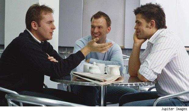 office politics: workers chatting