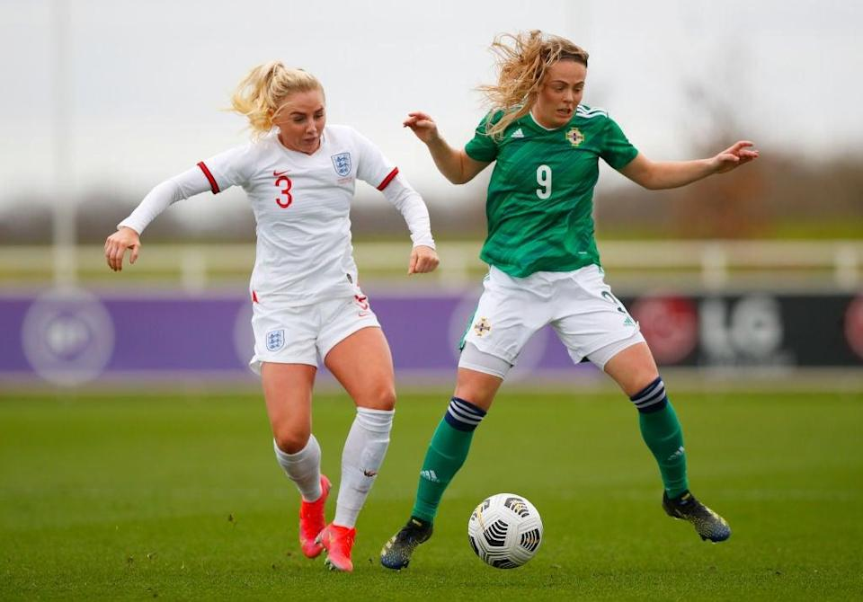 Alex Greenwood in action for England against Northern IrelandGetty