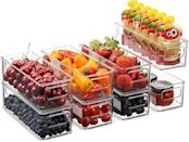 <p>From your pantry to your refrigerator, these <span>Set Of 8 Stackable Plastic Food Storage Bins</span> ($27) will keep your kitchen and food items organized. </p>