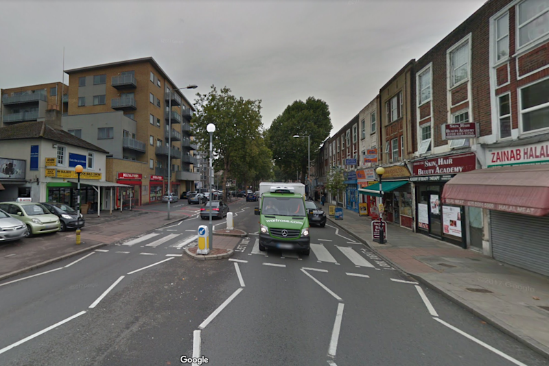 Fire: the officer had been walking his dog down London Road at the time