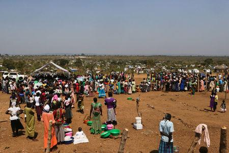 An aerial photograph showing South Sudanese refugees at Bidi Bidi refugeeís resettlement camp near the border with South Sudan, in Yumbe district, northern Uganda December 7, 2016. REUTERS/James Akena/File Photo