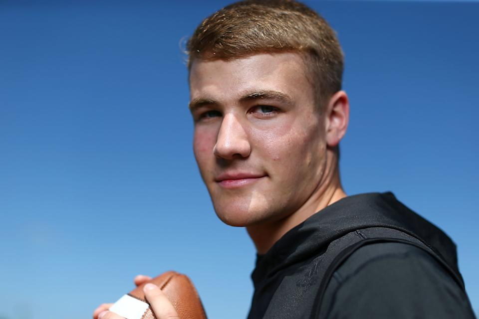 Hunter Johnson arrived at Clemson a five-star recruit but is now trying to win the starting QB job at Northwestern. (Getty Images)