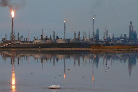 FILE PHOTO: A general view of the Amuay refinery complex which belongs to the Venezuelan state oil company PDVSA in Punto Fijo