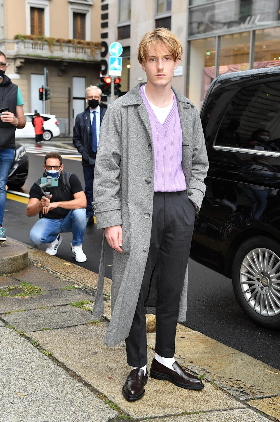"""<h1 class=""""title"""">Boss - Outside Arrivals - Milan Fashion Week Spring/Summer 2021</h1><cite class=""""credit"""">Jacopo Raule</cite>"""