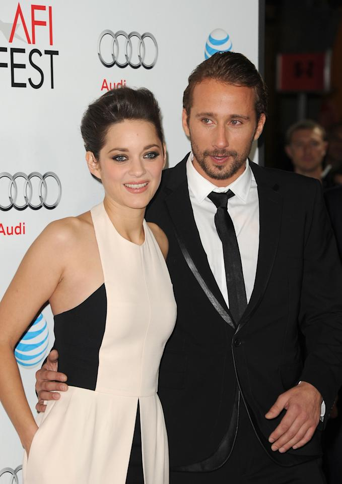 HOLLYWOOD, CA - NOVEMBER 05:  Actors Marion Cotillard and Matthias Schoenaerts arrive at the premiere of 'Rust and Bone' during the 2012 AFI Fest presented by Audi at Grauman's Chinese Theatre on November 5, 2012 in Hollywood, California.  (Photo by Jason Merritt/Getty Images)