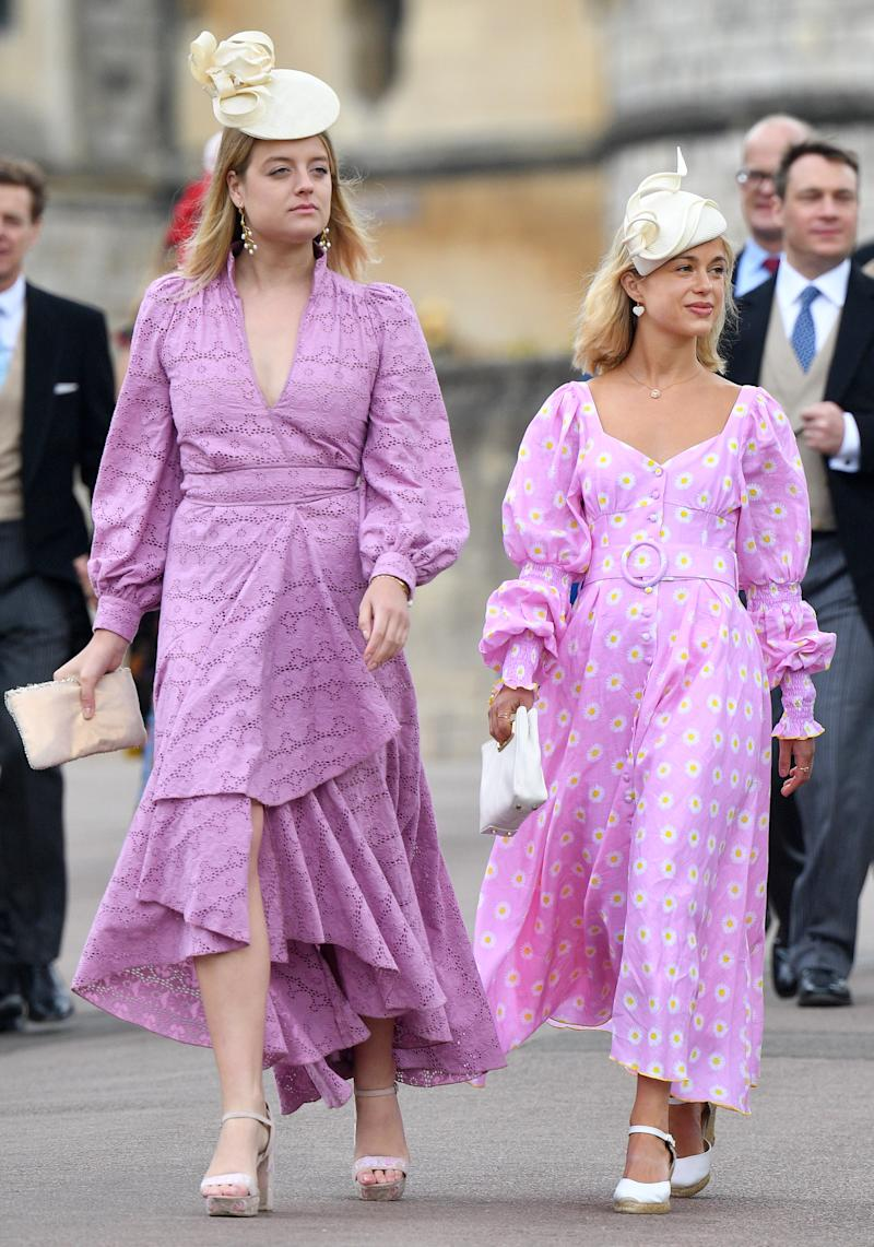 Flora attends Lady Gabriella Windsor's wedding alongside cousin Amelia Windsor. Photo: Getty