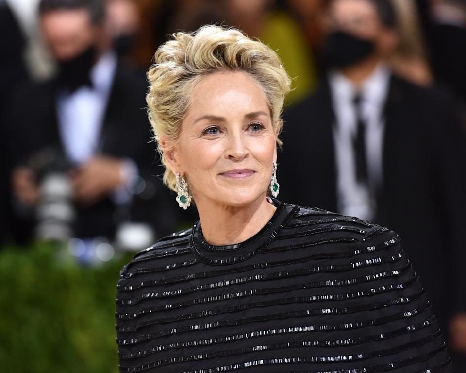 Fresh from the Met Gala, Sharon Stone shared a series of sultry sunbathing photos. (Photo: Sean Zanni/Patrick McMullan via Getty Images)
