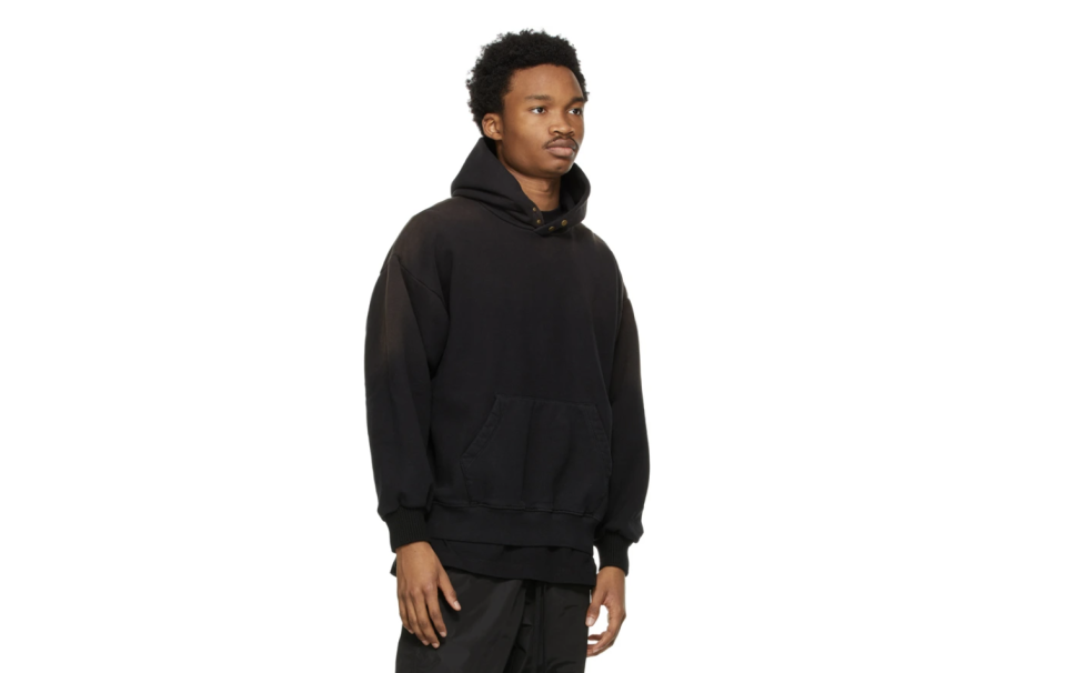 Fear of God black hoodie. (PHOTO: SSense)