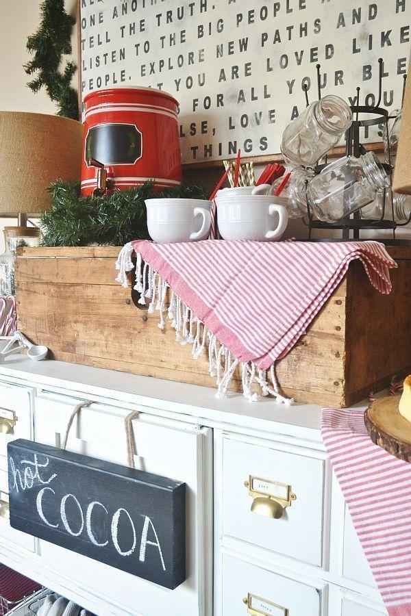<p>Hot cocoa is the unofficial drink of the winter season — no questions asked. For the meantime, turn your coffee bar into a hot cocoa bar, so you can sip on the chocolatey-marshmallow goodness all season long. </p>