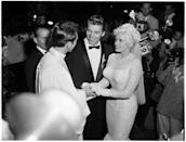 <p>Actress Jayne Mansfield and Mr. Universe Mickey Hargitay got married in a press-filled ceremony in Palos Verdes, California in 1958. </p>