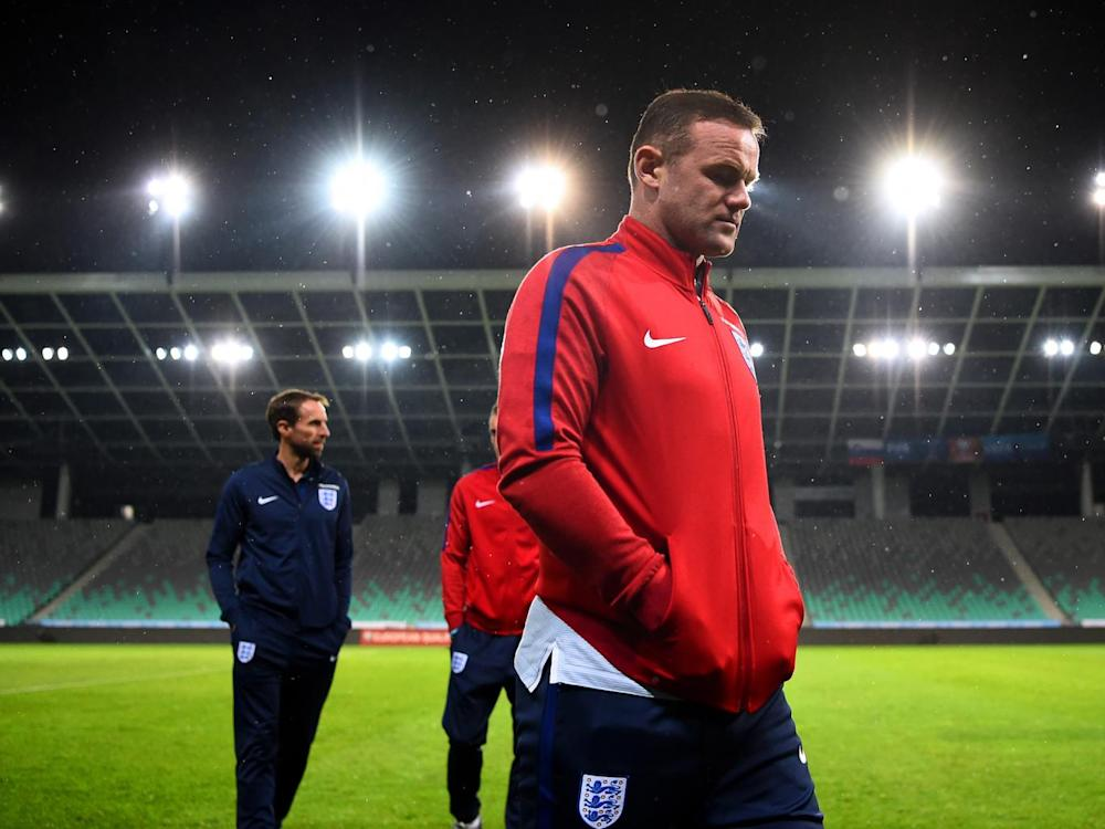 Rooney was dropped by Southgate for a World Cup qualifier against Slovenia last October (Getty)
