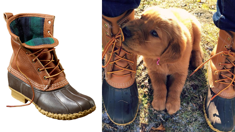 Duck boots come in tons of colors and heights—puppy not included.