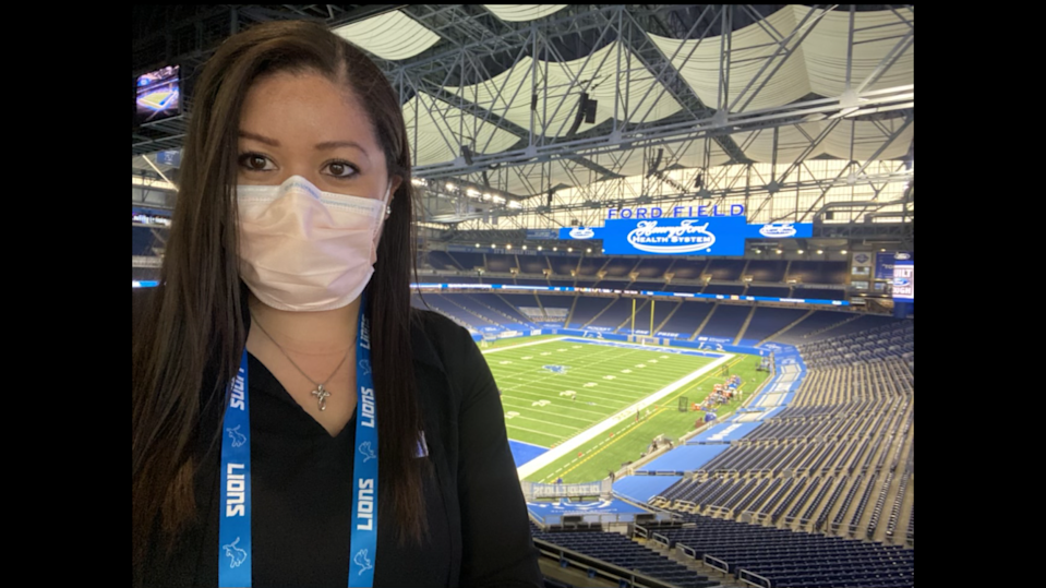 """As the NFL evolves and continues to cultivate space for women on coaching staffs and in the front office, Jessica Larmony has been labeled a """"superstar"""" for her work in the Detroit Lions front office."""