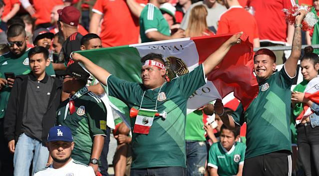Mexico fans are the only USA-based group en masse that has a team to root for in the World Cup. (Getty)