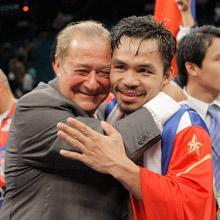 With the likelihood of a Floyd Mayweather fight dwindling, promoter Bob Arum (left) appears to be leaning toward trying to set up a bout with Shane Mosley