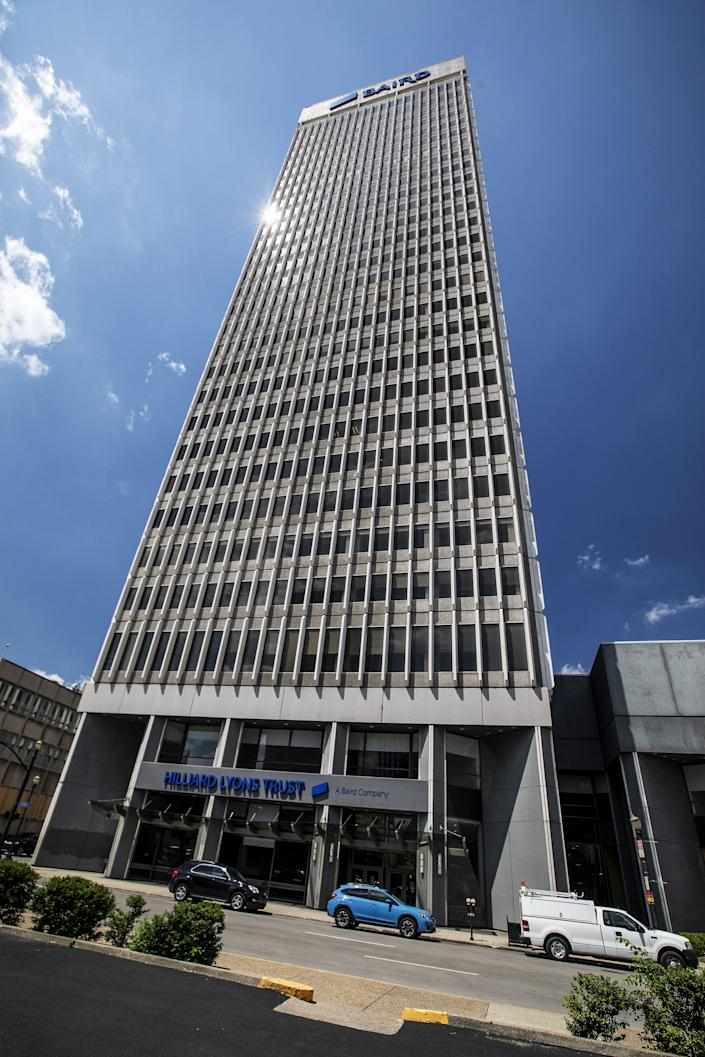 The former PNC Plaza office tower at 500 West Jefferson Street in downtown Louisville. Fri, Aug. 7, 2020.