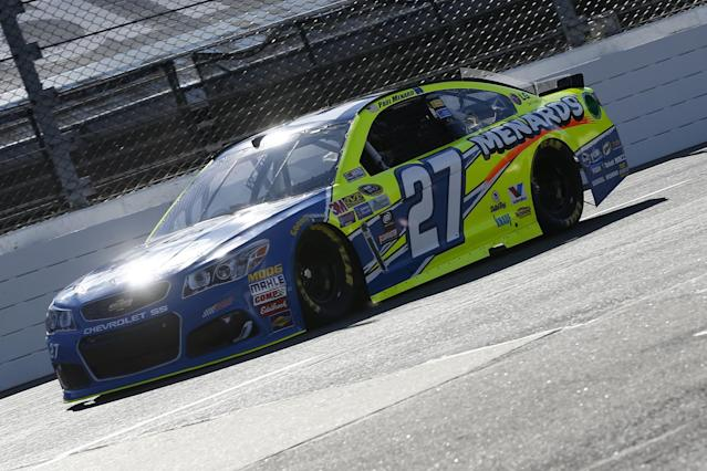 "<a class=""link rapid-noclick-resp"" href=""/nascar/sprint/drivers/1053/"" data-ylk=""slk:Paul Menard"">Paul Menard</a> is 25th in the points standings. (Getty)"