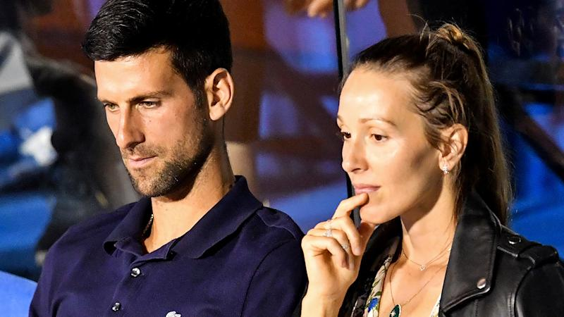 Novak Djokovic and his wife Jelena are infected with coronavirus at the Adria hotel Tour. (Photo: ANDREJ ISAKOVIC/AFP, satellite TV Getty Images)