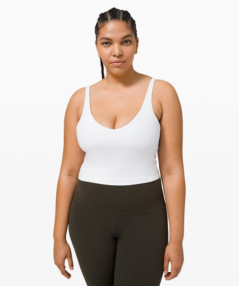 <p>This <span>Lululemon Align Tank</span> ($58) is buttery soft and so flattering.</p>
