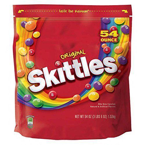 "<p><strong>Skittles</strong></p><p>amazon.com</p><p><strong>$9.78</strong></p><p><a href=""https://www.amazon.com/dp/B00R9DHXYC?tag=syn-yahoo-20&ascsubtag=%5Bartid%7C2089.g.35651204%5Bsrc%7Cyahoo-us"" rel=""nofollow noopener"" target=""_blank"" data-ylk=""slk:Shop Now"" class=""link rapid-noclick-resp"">Shop Now</a></p><p>The rainbow of Skittles flavors taste great, and are made without any animal-derived ingredients! Skittles originally included gelatin, but it's been phased out and replaced with plant-based ingredients.</p><p><em>Per 1.4 oz: 160 cals, 1.5 g fat (1.5 g sat), 10 mg sodium, 37 g carb, 30 g sugar, 0 g fiber, 0 g protein.</em></p>"