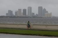 FILE PHOTO: The Tampa skyline is seen in the background along Bayshore Boulevard in 2017