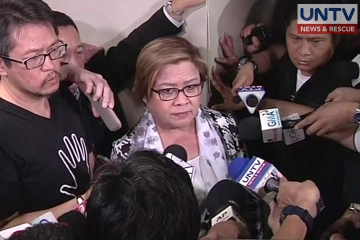 FILE PHOTO: Senator Leila de Lima