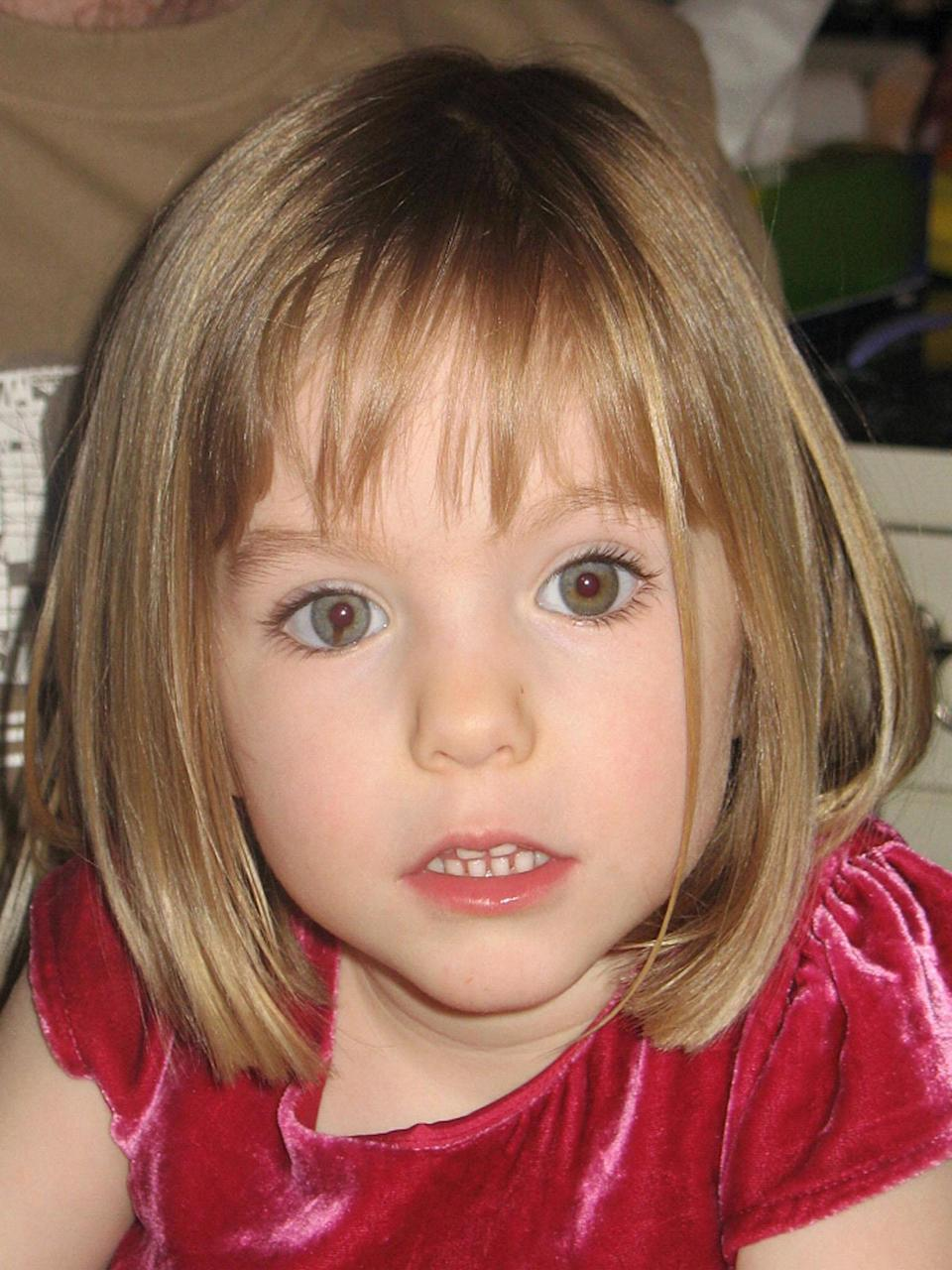 In 2007, then three-year-old Madeleine McCann vanished from her holiday apartment in the Portugal. Source: Pa