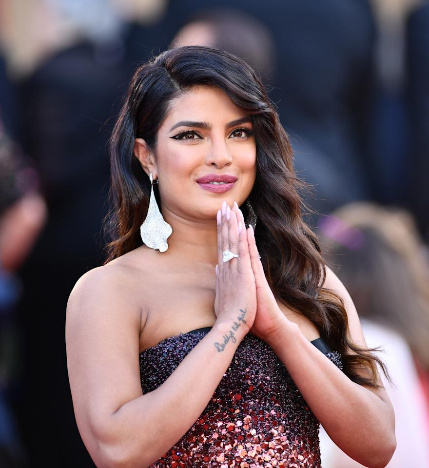 CANNES, FRANCE - MAY 16: Indian actress Priyanka Chopra arrives for the screening of the film 'Rocketman' during the 72nd annual Cannes Film Festival in Cannes, France on May 16, 2019. (Photo by Mustafa Yalcin/Anadolu Agency/Getty Images)