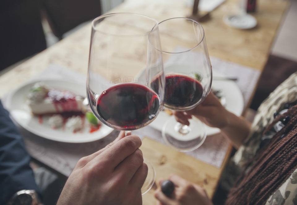 A new study has revealed drinking red wine could offer some protection against breast cancer [Photo: Getty]