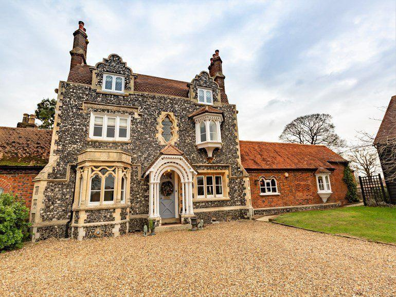 """<p>Sleeping 15 people, this beautiful detached farmhouse in Beaconsfield is ideal for a group girls' holiday or family weekend. Think art deco meets country glamour in the gorgeous retreat set in 2,000 acres of farm and woodland. </p><p>Beyond its imposing façade, there's a drawing room with a lavish fireplace, a kitchen (the hub of the house) and spacious dining room, perfect for long lazy meals. The Chiltern Hills offer miles of walking paths for when you want to get out and about. </p><p><a class=""""link rapid-noclick-resp"""" href=""""https://www.holidaycottages.co.uk/heart-of-england/buckinghamshire/the-flint-house"""" rel=""""nofollow noopener"""" target=""""_blank"""" data-ylk=""""slk:CHECK AVAILABILITY"""">CHECK AVAILABILITY</a></p>"""