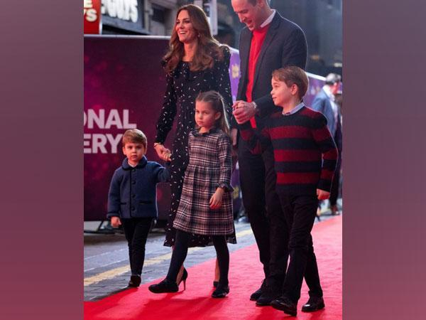 Prince William, Catherine, Duchess of Cambridge and their children, Prince Louis, Princess Charlotte and Prince George