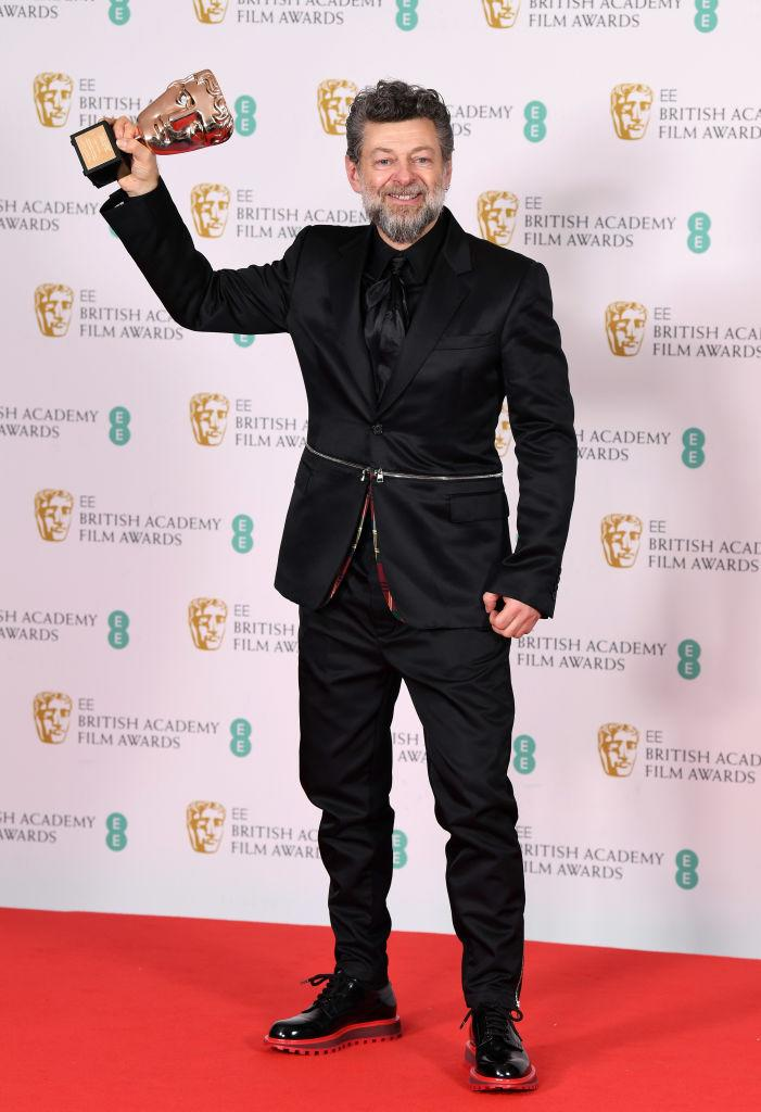 Andy Serkis experimented with a pop of tartan. [Photo: Getty]