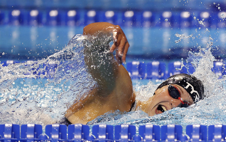 Katie Ledecky is the most dominant distance freestyler the world has ever seen. (Photo by Maddie Meyer/Getty Images)