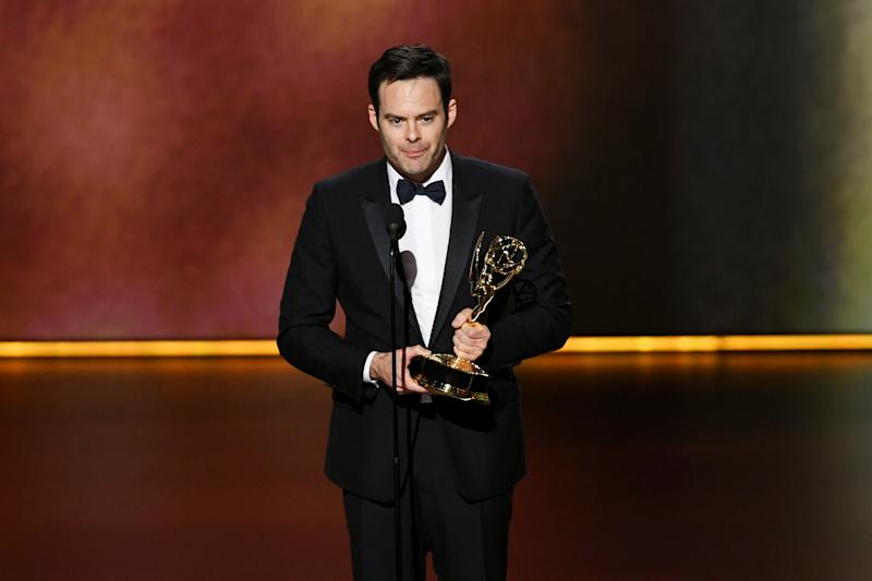 LOS ANGELES, CALIFORNIA - SEPTEMBER 22: Bill Hader accepts the Outstanding Lead Actor in a Comedy Series award for 'Barry' onstage during the 71st Emmy Awards at Microsoft Theater on September 22, 2019 in Los Angeles, California. (Photo by Kevin Winter/Getty Images)