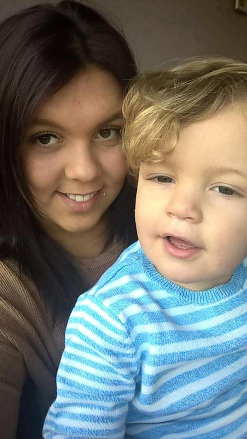 A mum has revealed her heartbreak over her four-year-old son going bin diving for food. Photo: Caters News