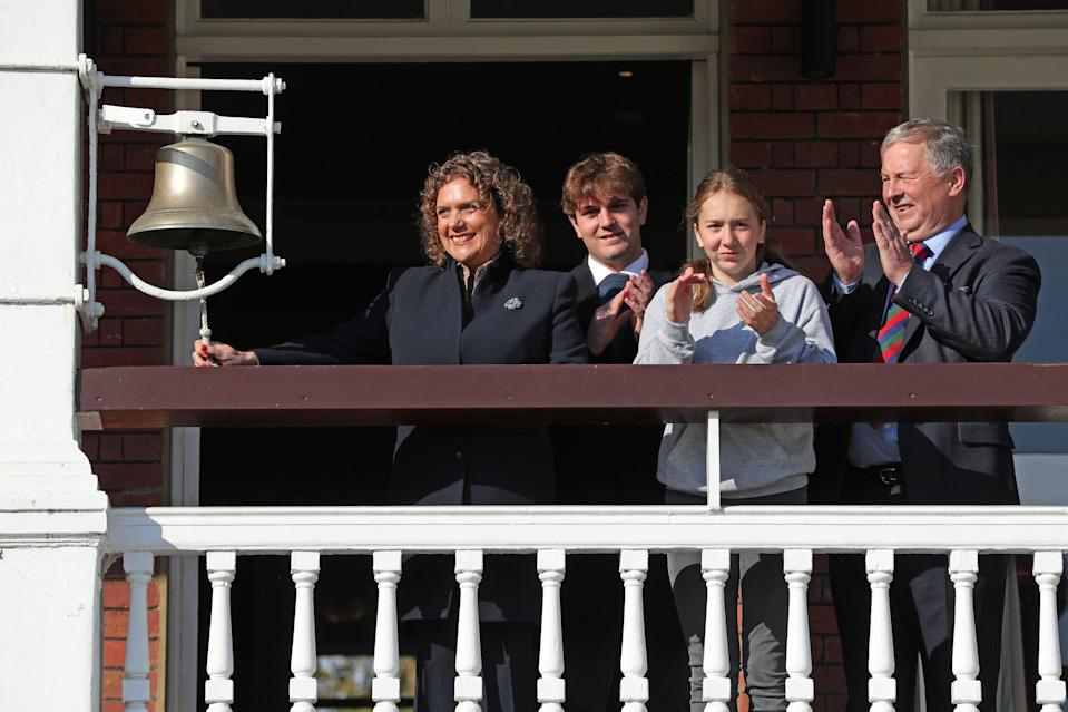 <p>The family of Captain Tom Moore launching a charity drive in the veteran's honour at Lord's Cricket Ground</p> (PA)